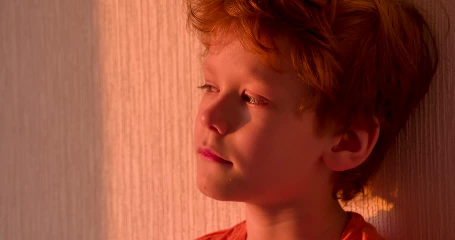 Boy with redhead