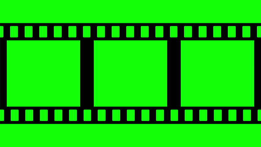 Animated film strip overlay with green screen 3 stock for Green screen backgrounds free templates