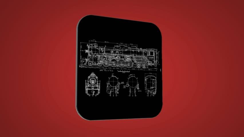 Stock video of blueprint of train 15716719 shutterstock visually similar footage malvernweather Choice Image