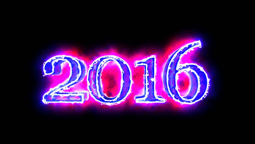 2016 year digits Blue and Red color 3D animated in black background for overlay 4K video   Shutterstock HD Video #15737185