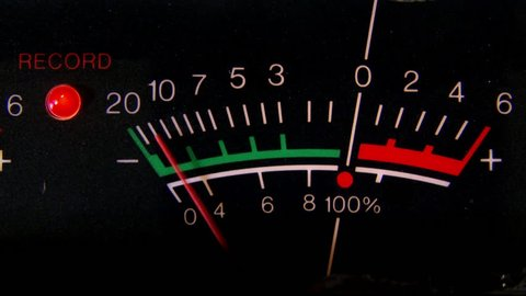 Volume Unit VU meter, closeup