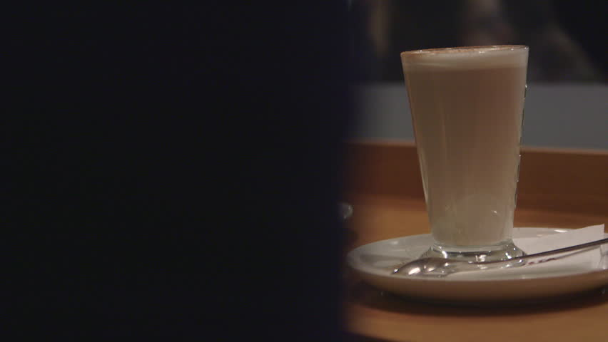 Latte coffee order in a coffee house. | Shutterstock HD Video #15832135