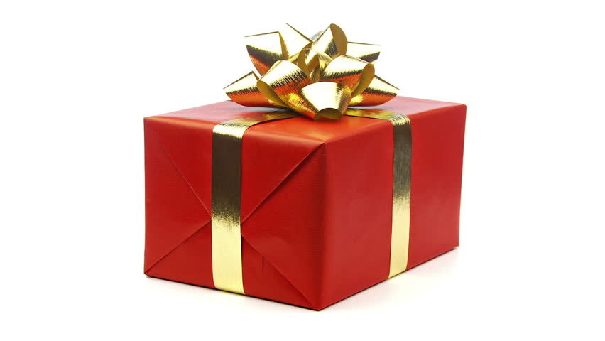 Christmas Present.Large Red Christmas Present With Stock Footage Video 100 Royalty Free 1584085 Shutterstock