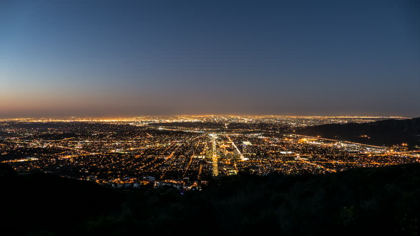 Los Angeles and Glendale Sunrise Time Lapse in Southern California  | Shutterstock HD Video #15843475