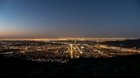 Los Angeles and Glendale Sunrise Time Lapse in Southern California