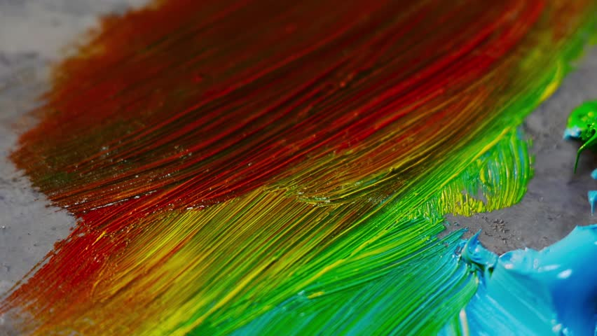 Young Painter Mixed Colors in Palette. Perfect Art Background for your Content | Shutterstock HD Video #15855307