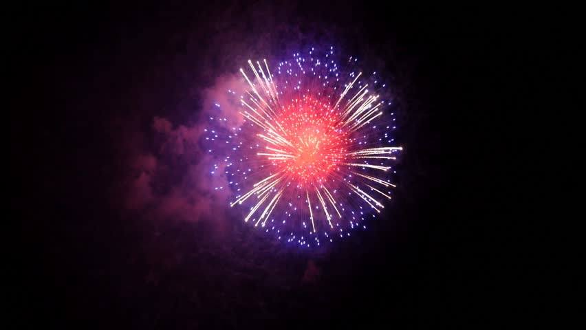 Fireworks Holiday Background, Alpha PNG Stock Footage Video ...