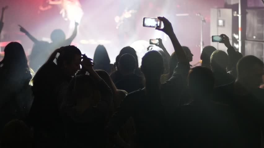 flashing Concert crowd public