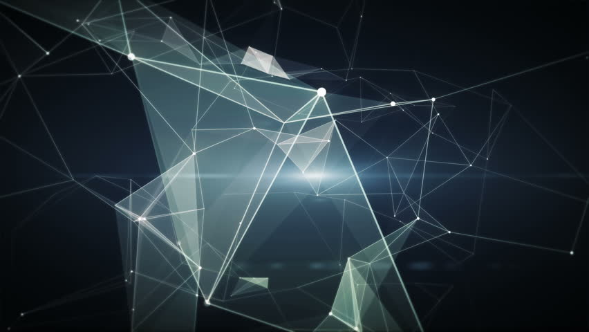 Abstract lowpoly vector network connections from particles and lines.web background