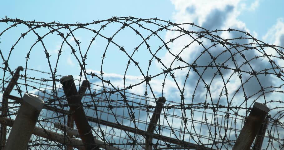 Stock video of 4k,cu shot of barbed wire. | 15957325 | Shutterstock