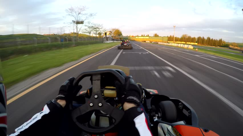 Go kart race on board