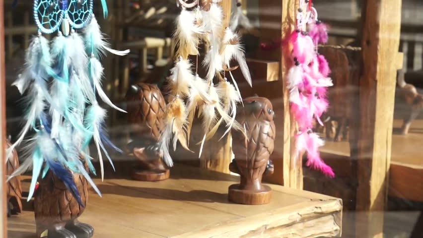Dreamcatchers in a shop window