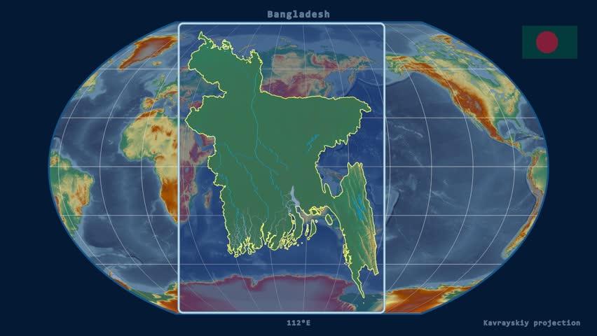 Bangladesh Map Stock