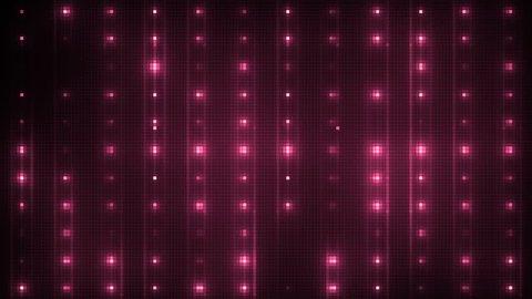 Vj Abstract Pink Bright Mosaic. Bright beautiful flood lights disco pink background mosaic. Seamless loop.