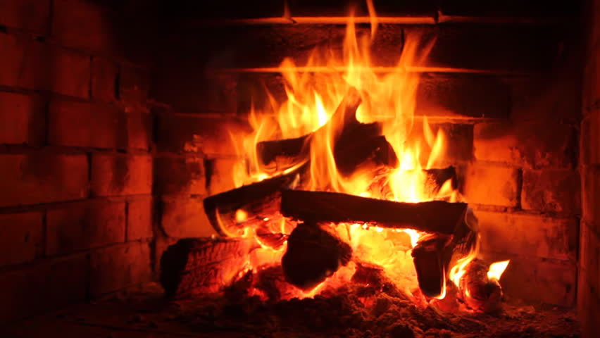 Fireplace - Live Feed Interview Background Loop Left Stock Footage ...