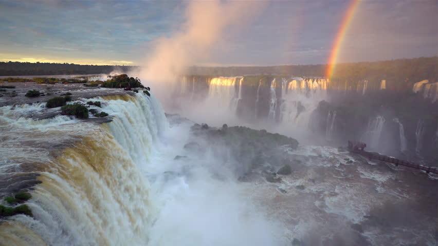Iguacu Falls, Foz do Igua\x8Du, Iguacu (Iguazu) National Park, Brazil, South America - 01/02/2016 | Shutterstock HD Video #16160359