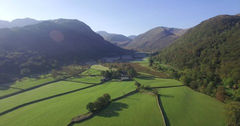 England, Cumbria, Lake District National Park, Borrowdale Valley, looking towards Stonethwaite Beck and the Langstrath Valley - 01/10/2015