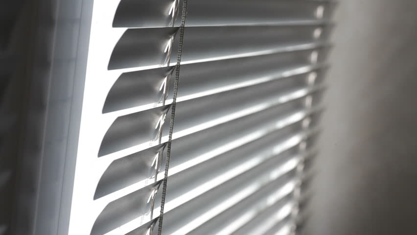 Clips For Window Blinds Part - 40: Sunlight Coming Through Venetian Blinds By The Window - HD Stock Footage  Clip