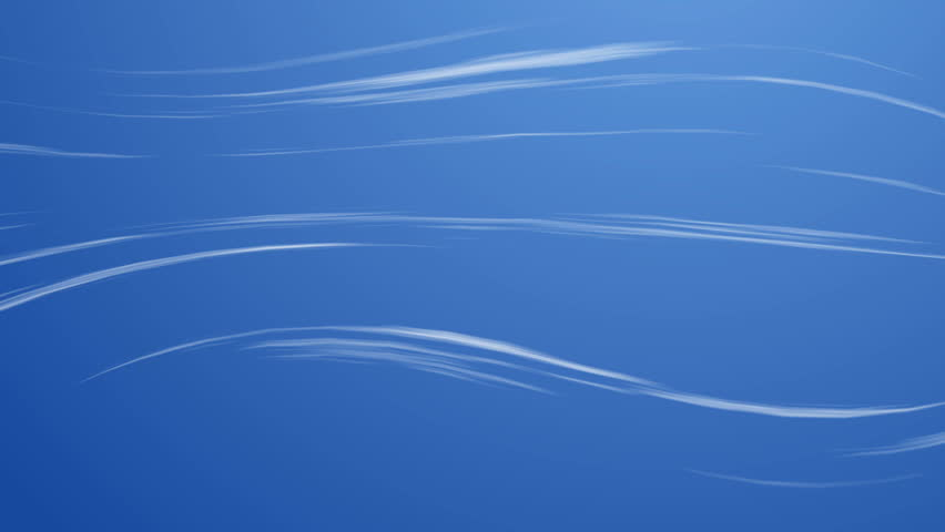 stock video clip of fast going wind swirls over a blue