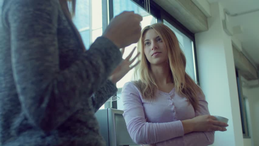 Female colleagues talking during coffee break    Shutterstock HD Video #16307044
