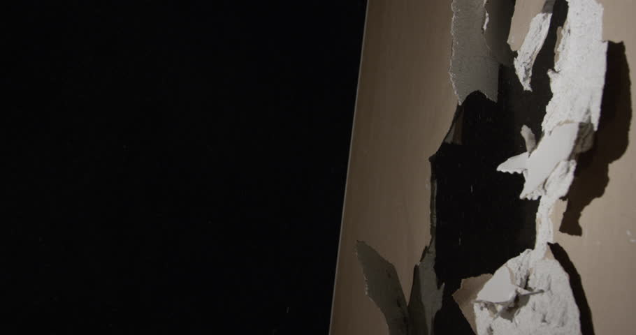 Hammer and dust Smashing through Drywall in slow motion | Shutterstock HD Video #16328527