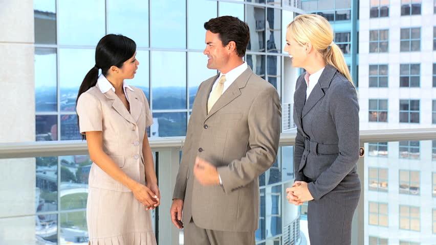 Multi Ethnic Male & Female Business Team | Shutterstock HD Video #1638148