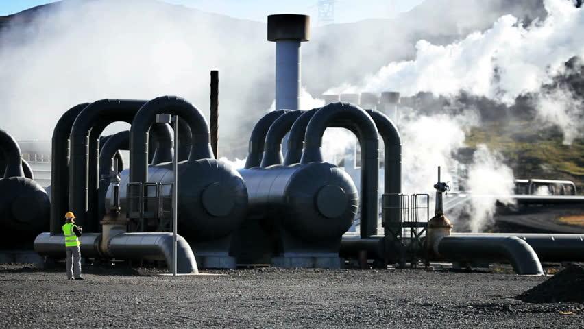 Geothermal Power Plant Engineer on Site | Shutterstock HD Video #1640185