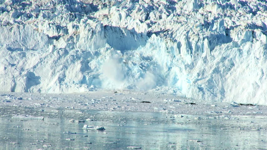 Spectacular Glacial Ice avalanche