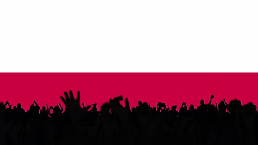 poland flag background with people #16414045