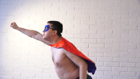fat funny superhero