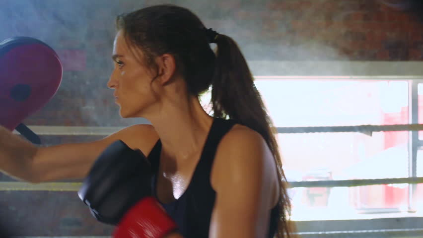 Man woman training gym boxing mma ring pads mixed martial arts man woman training gym boxing mma ring pads mixed martial arts fitness hd stock footage altavistaventures Choice Image