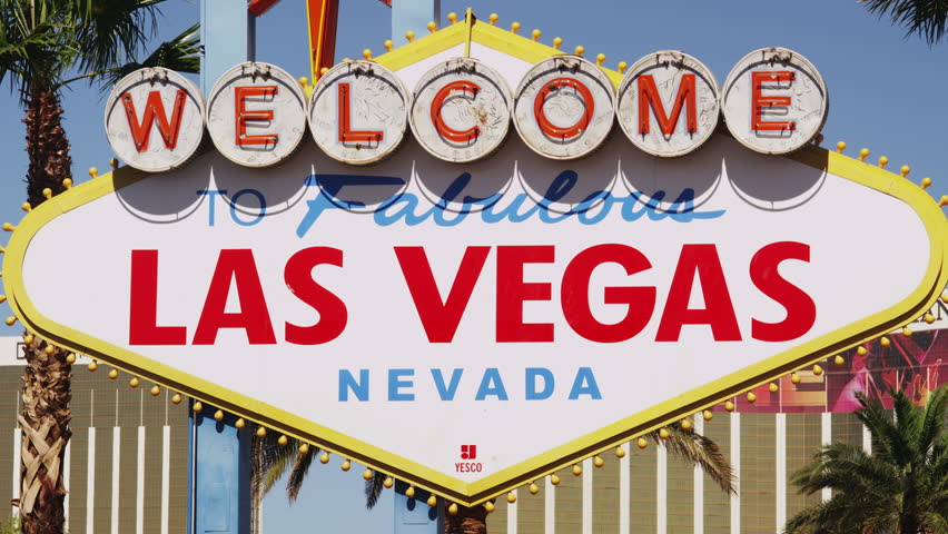 One of the most photographed sights in Las Vegas: The Welcome to Las Vegas Sign in close up | Shutterstock HD Video #16467490