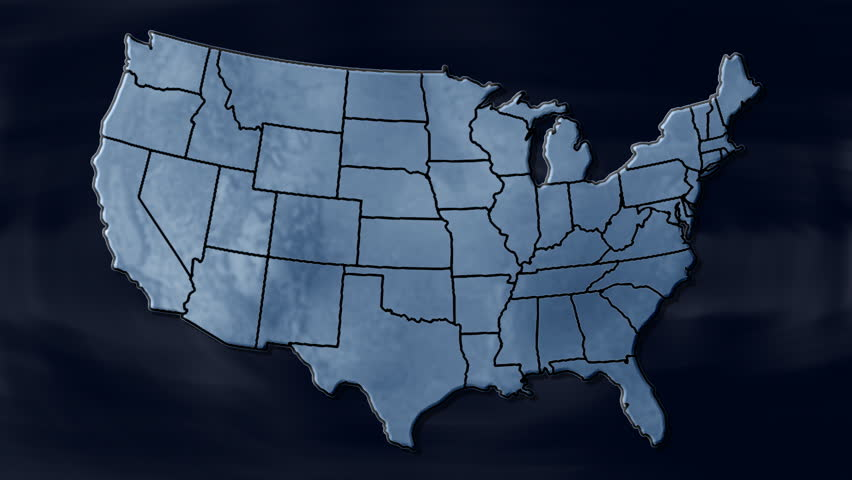 HD Overhead Shot Of Twelve Kids Walking Around The United States - Map videos for kids
