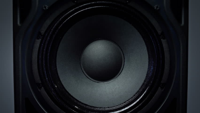 Detail of Animated Loud Sound Speaker