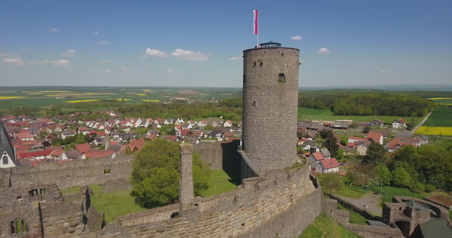 Castle Muenzenberg, Wetterauer inkwell, Muenzenberg, Wetterau, Hesse, Germany, Europe