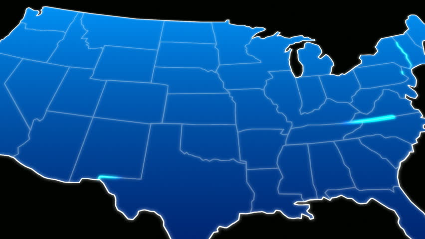 USA All States Showing Up On A Green Screen Background Stock - Hd us map background