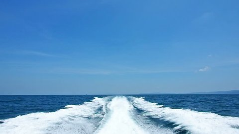 The waves from speed boat background