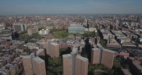 Harlem Overhead Shot Of Project Buildings