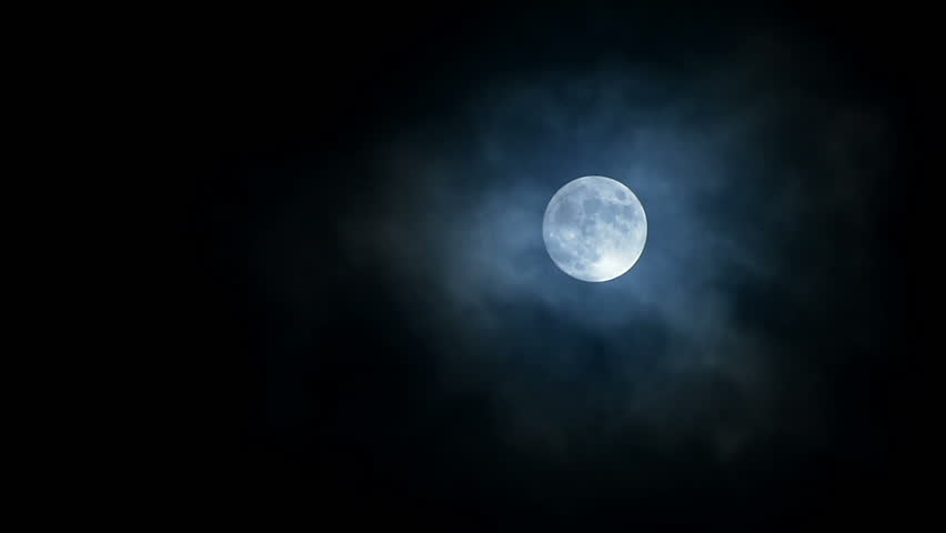 Full Moon Real Time. Dark Moving Clouds in front of Full Moon | Shutterstock HD Video #16707445
