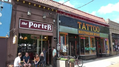 ca6c3f258 Shops at Little 5 Points quarter in Atlanta - ATLANTA / GEORGIA - APRIL 22,
