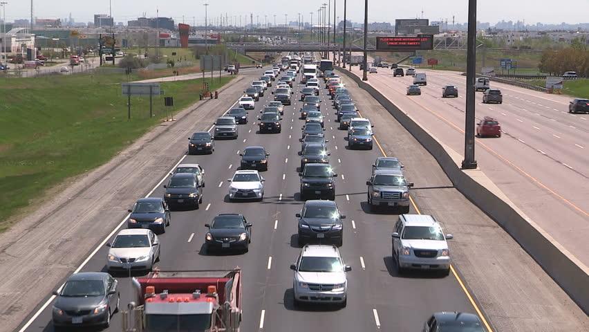 Toronto, Ontario, Canada May 2016 Epic highway traffic jam gridlock on holiday weekend in summer | Shutterstock HD Video #16808845