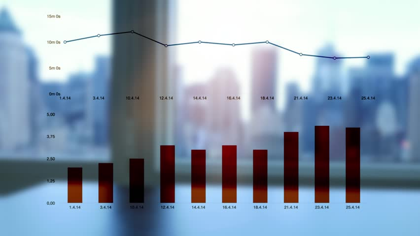 Working on laptop computer in modern office desk analyzing financial  profits progress. business charts diagrams background. online banking from home. city skyline window view  | Shutterstock HD Video #16830775