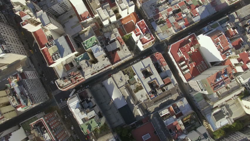 Buenos Aires, Argentina - November 21, 2015: Rooftops of city high rises