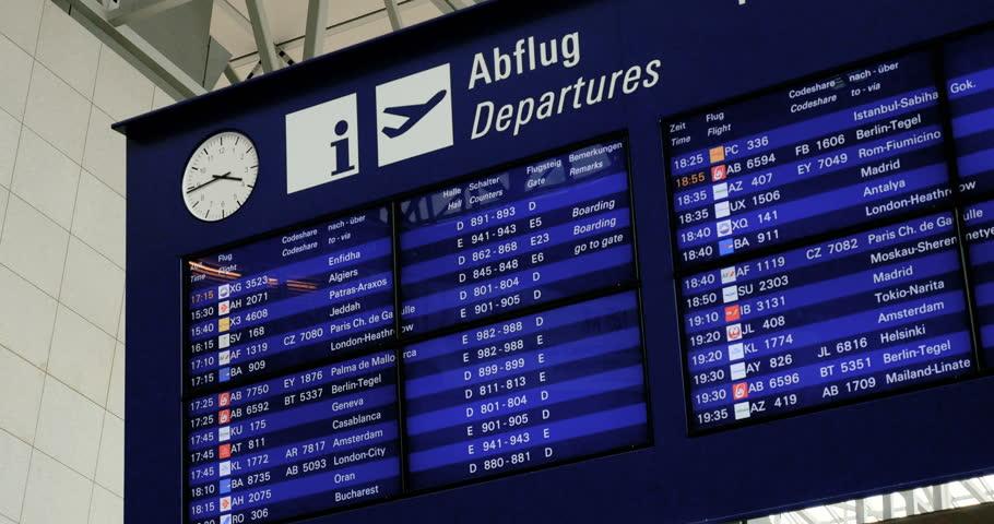 Departure Frankfurt Airport