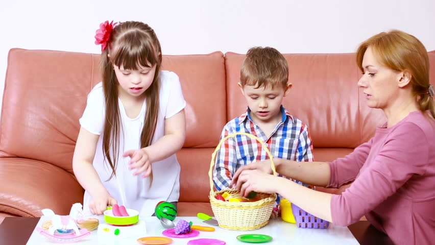 Children Playing On the Couch  Stock Footage Video (100