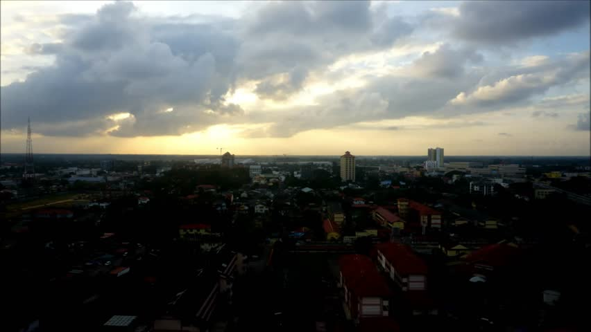Timelapse of sunset from high angle | Shutterstock HD Video #16923022