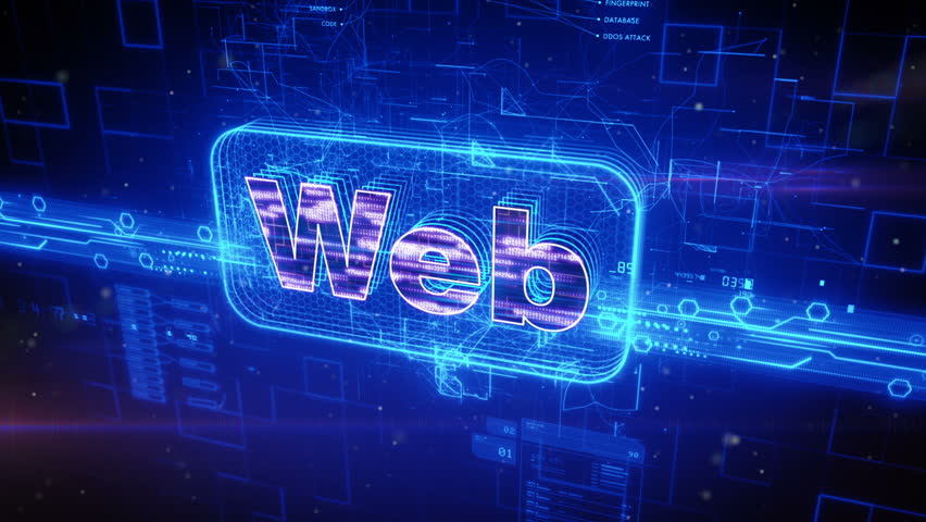 Abstract animation of WEB text in digital cyberspace | Shutterstock HD Video #16942405