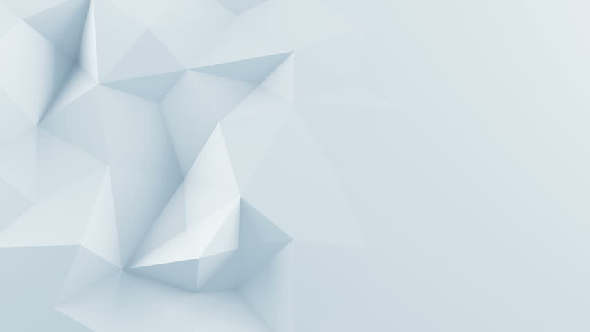 White polygonal shape. Abstract 3D render background. Computer generated seamless loop animation 4k UHD (3840x2160)  #16954015