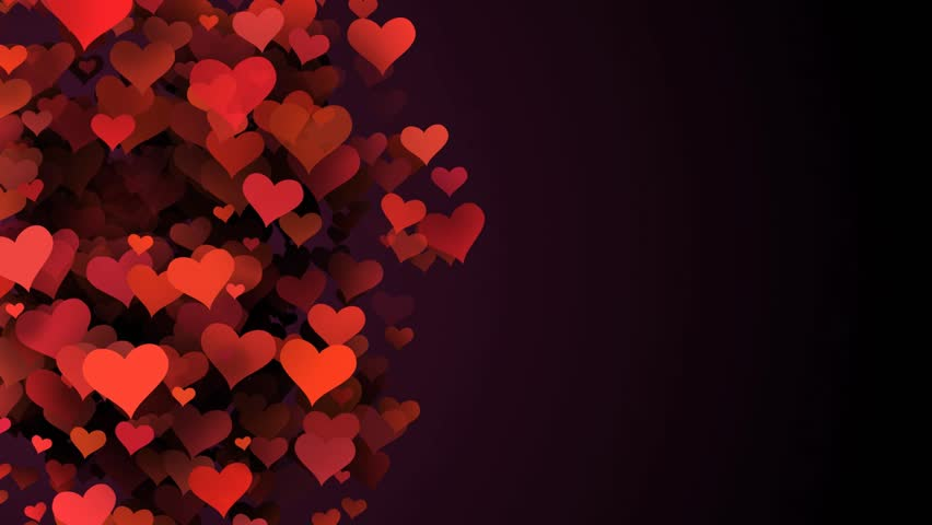 Love Wallpaper Theme : Luscious Red And Pink Love Hearts On A Abstract Red ...