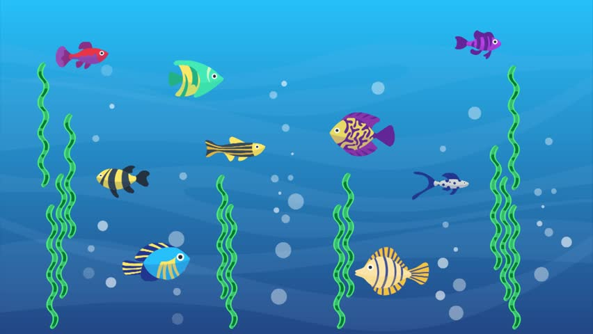 Fish and coral reef tropical fish on a coral reef for Fish cartoon movie